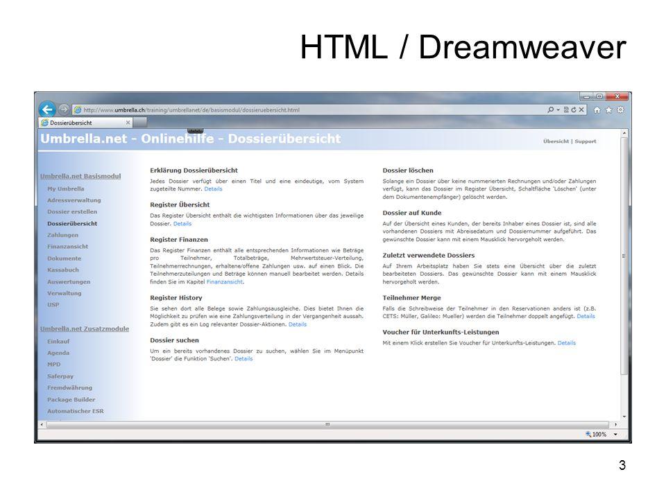 3 HTML / Dreamweaver