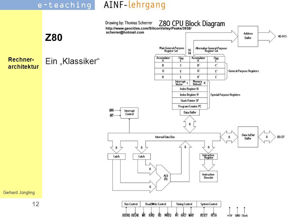 Rechner- architektur Gerhard Jüngling 12 Z80 Ein Klassiker