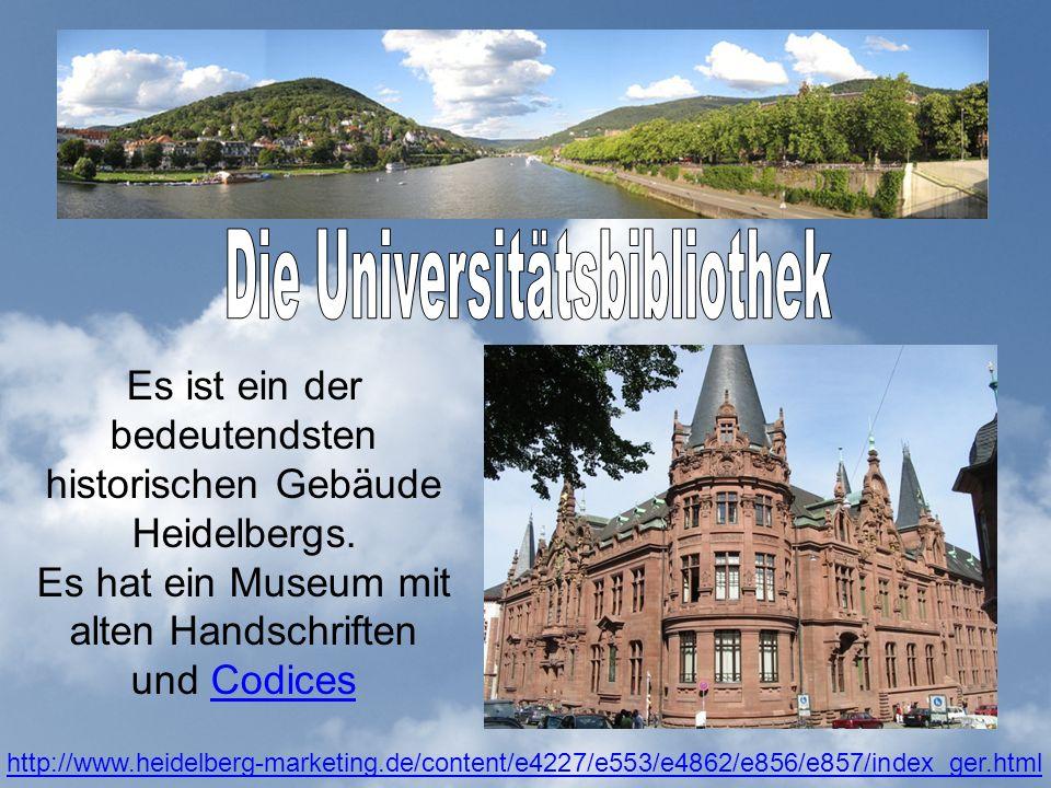 Es ist ein der bedeutendsten historischen Gebäude Heidelbergs.