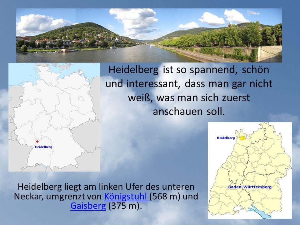 Die Stadt Heidelberg wurde im 12.