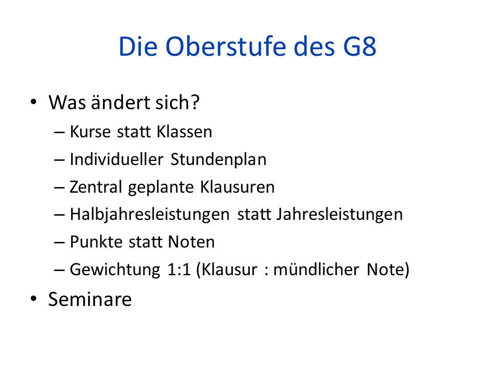 Die Oberstufe des G8 Organisation der Orientierungsphase – Höchstausbildungsdauer: max.