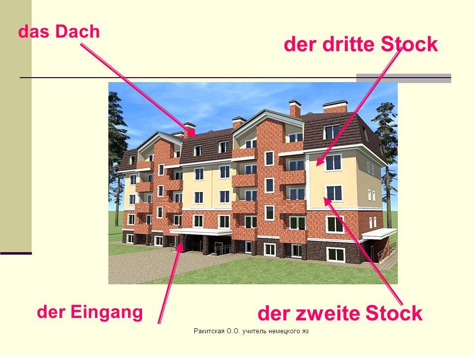 der zweite Stock der dritte Stock der Eingang das Dach Ракитская О.О. учитель немецкого яз