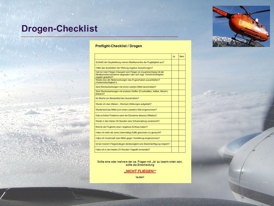 Drogen-Checklist