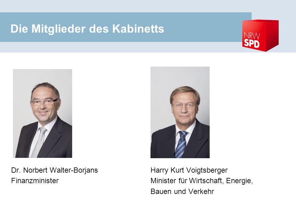 Die Mitglieder des Kabinetts Dr.