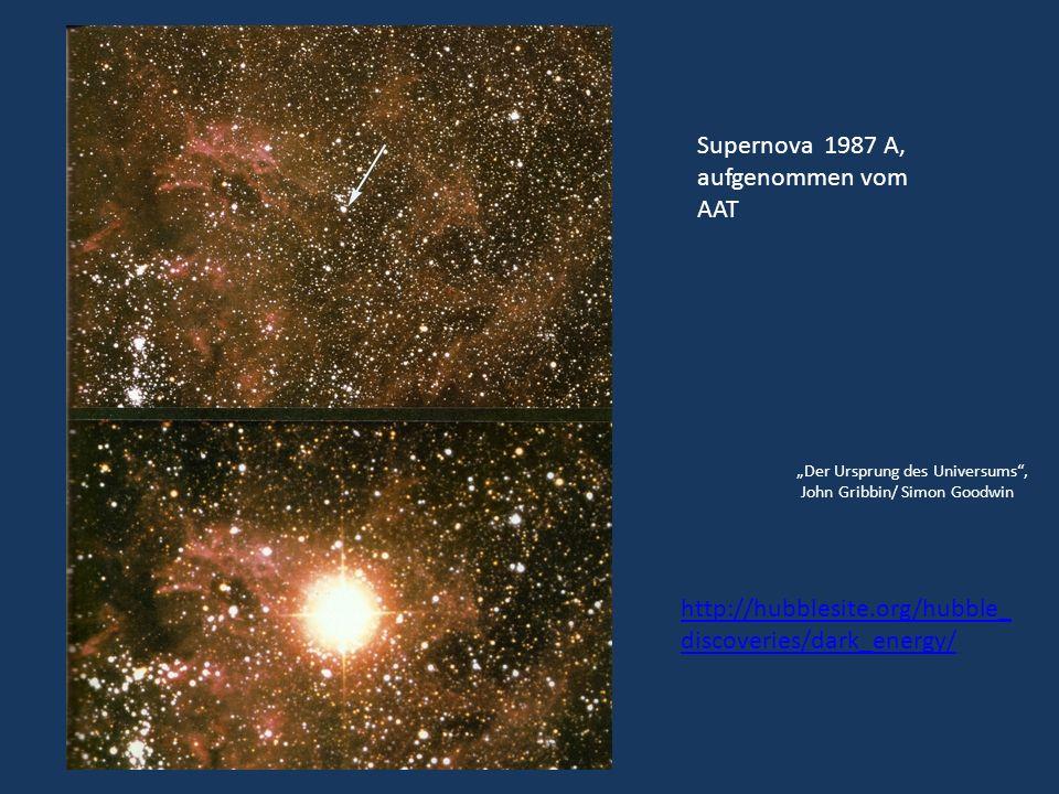 Supernova 1987 A, aufgenommen vom AAT Der Ursprung des Universums, John Gribbin/ Simon Goodwin http://hubblesite.org/hubble_ discoveries/dark_energy/