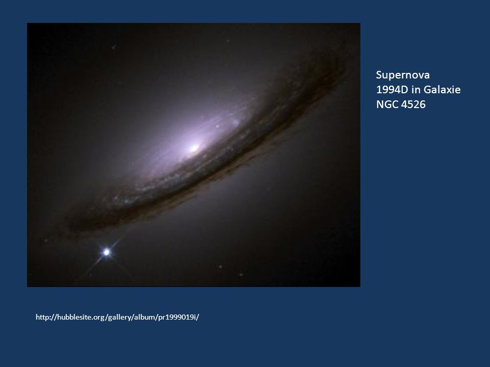 Supernova 1994D in Galaxie NGC 4526