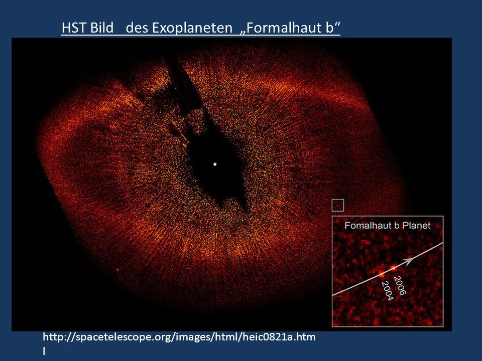 HST Bild des Exoplaneten Formalhaut b http://spacetelescope.org/images/html/heic0821a.htm l