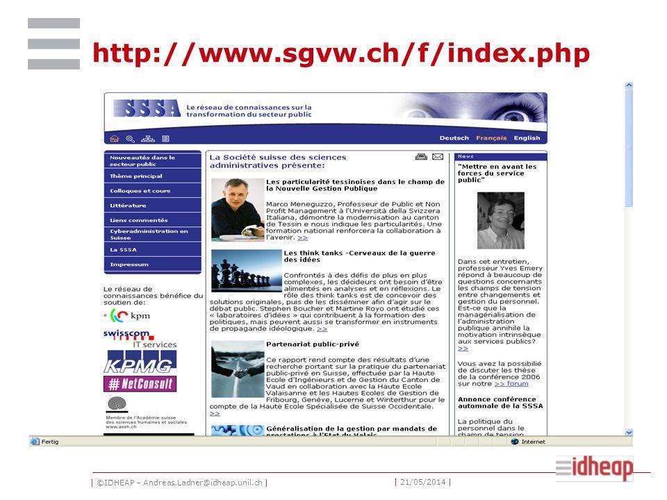 | ©IDHEAP – Andreas.Ladner@idheap.unil.ch | | 21/05/2014 | European conferences ECPREGPA