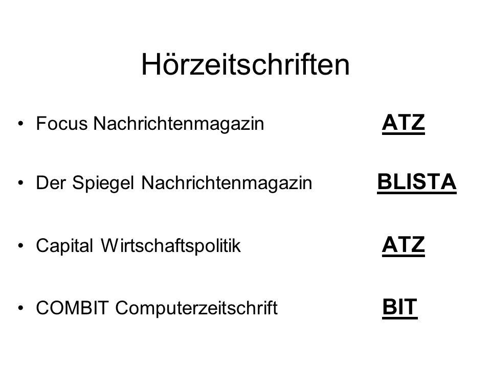 Focus Nachrichtenmagazin ATZ Der Spiegel Nachrichtenmagazin BLISTA Capital Wirtschaftspolitik ATZ COMBIT Computerzeitschrift BIT