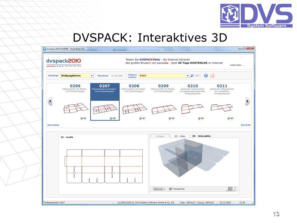 DVSPACK: Interaktives 3D 13