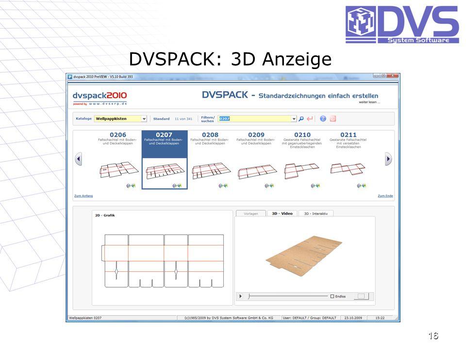 DVSPACK: 3D Anzeige 16