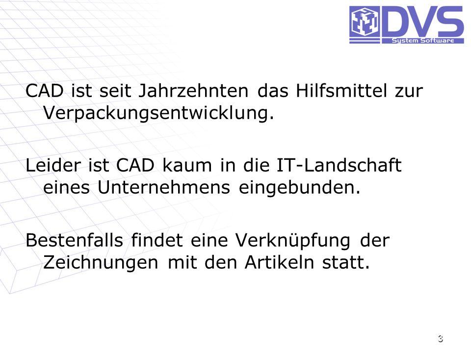 CAD ist seit Jahrzehnten das Hilfsmittel zur Verpackungsentwicklung. Leider ist CAD kaum in die IT-Landschaft eines Unternehmens eingebunden. Bestenfa