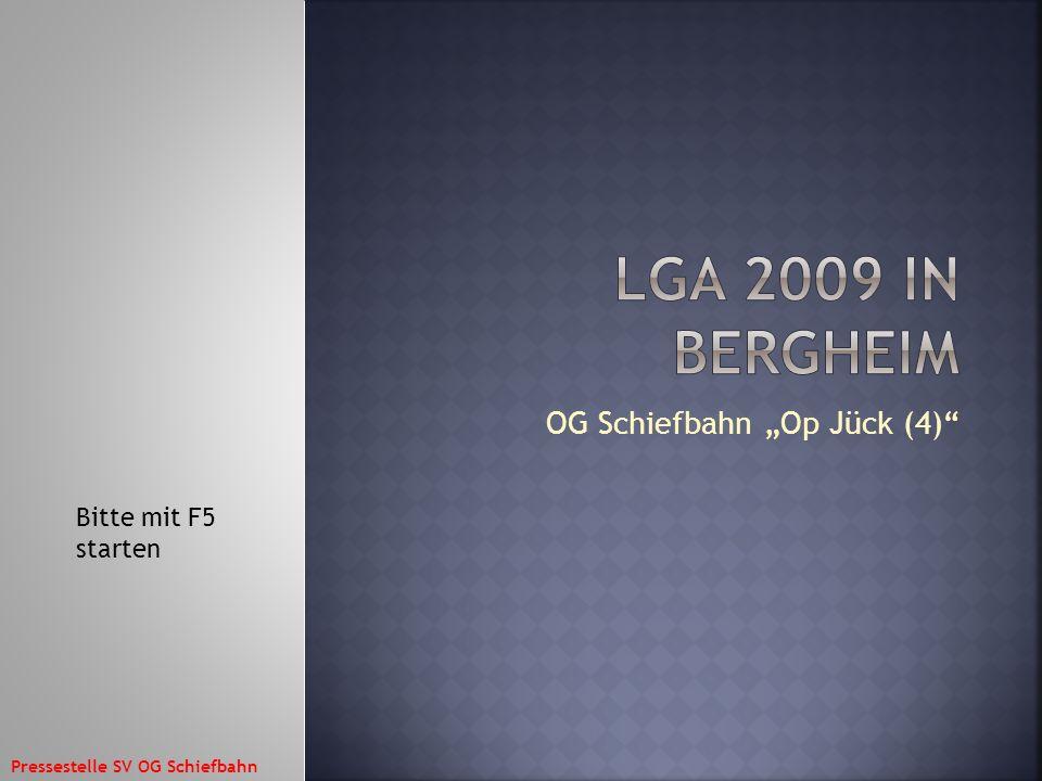 OG Schiefbahn Op Jück (4) Bitte mit F5 starten Pressestelle SV OG Schiefbahn