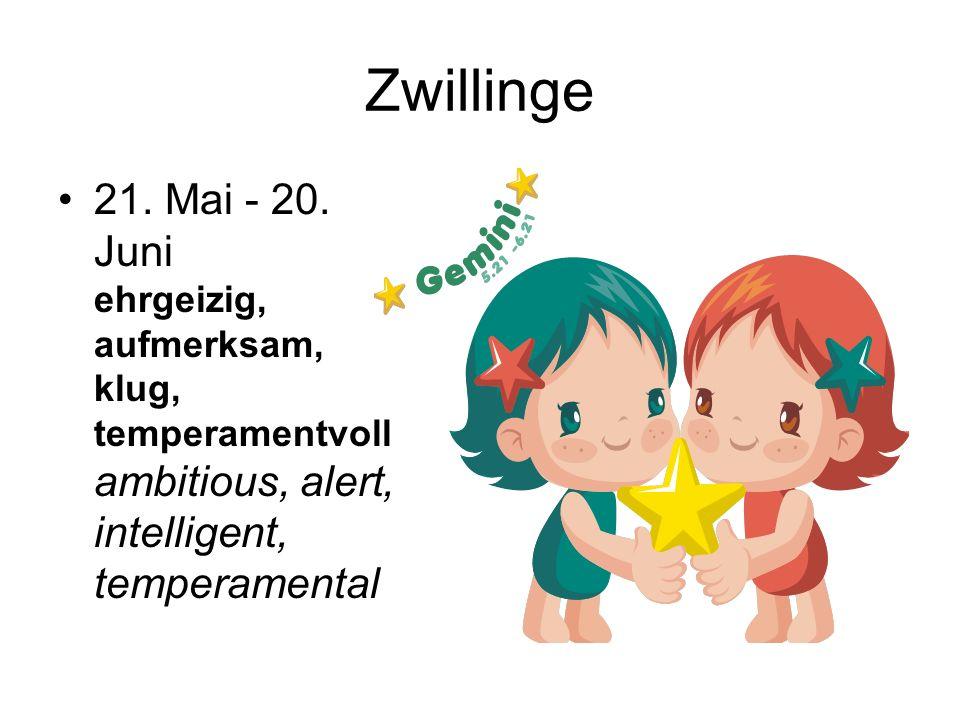 Zwillinge 21. Mai - 20.