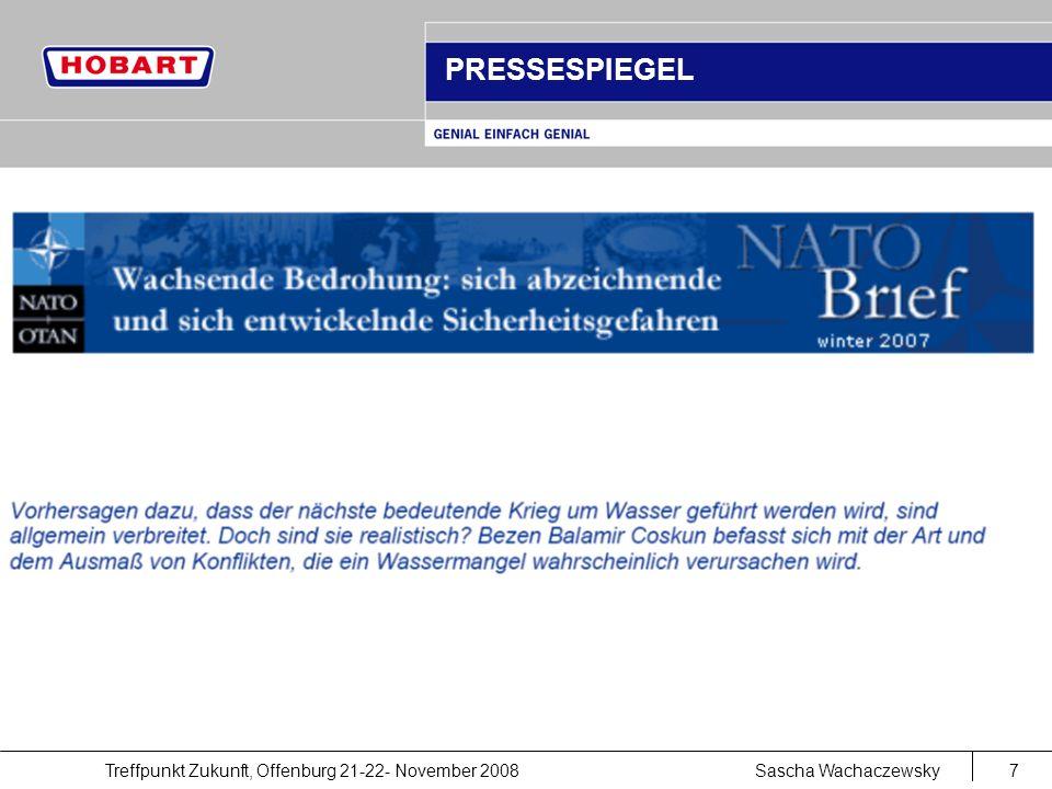 Treffpunkt Zukunft, Offenburg 21-22- November 2008Sascha Wachaczewsky7 PRESSESPIEGEL