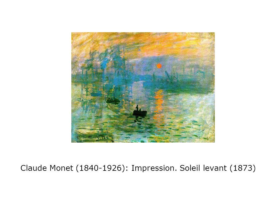 Claude Monet (1840-1926): Impression. Soleil levant (1873)