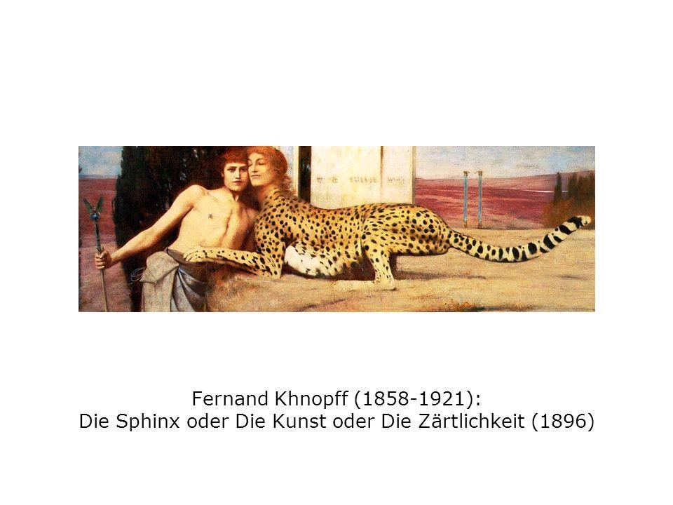 Fernand Khnopff (1858-1921): Die Sphinx oder Die Kunst oder Die Zärtlichkeit (1896)