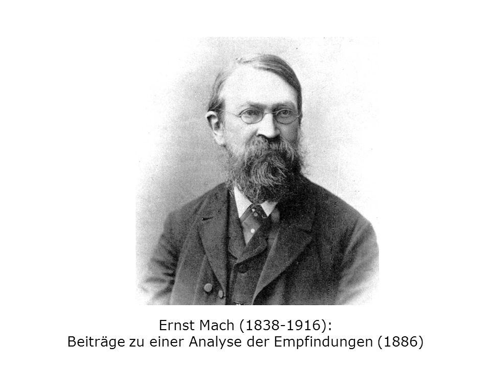 Ernst Mach (1838-1916): Beiträge zu einer Analyse der Empfindungen (1886)