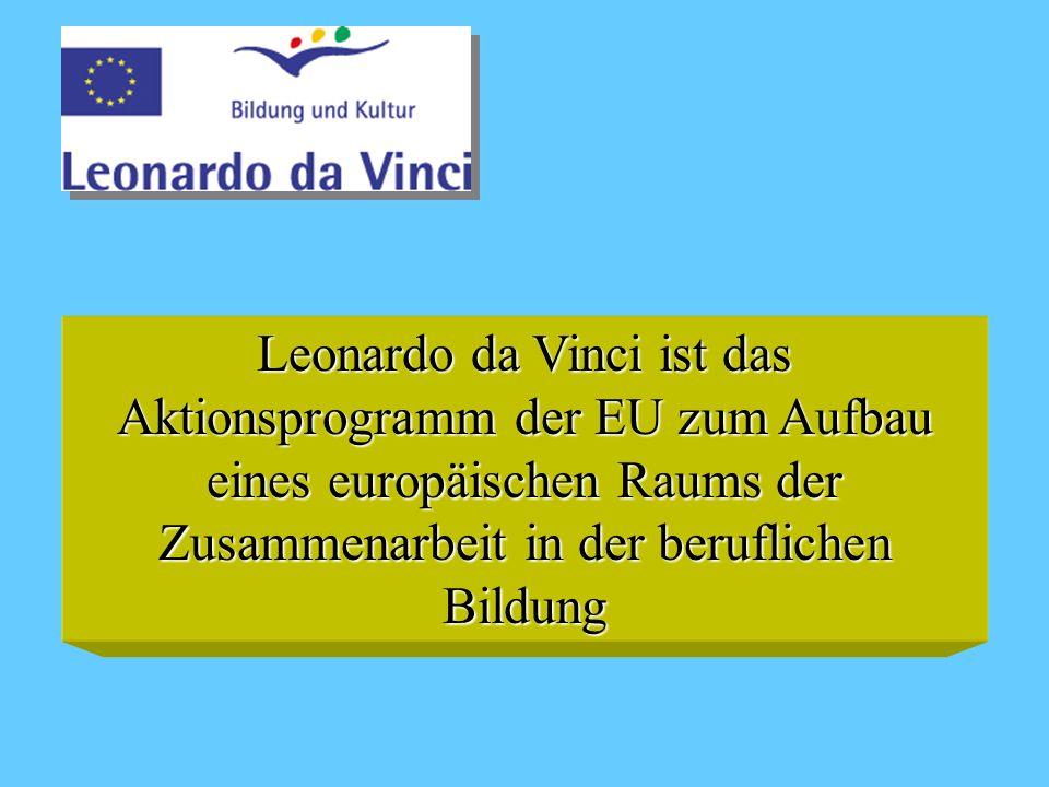 Leonardo da Vinci ist das Aktionsprogramm der EU zum Aufbau eines europäischen Raums der Zusammenarbeit in der beruflichen Bildung