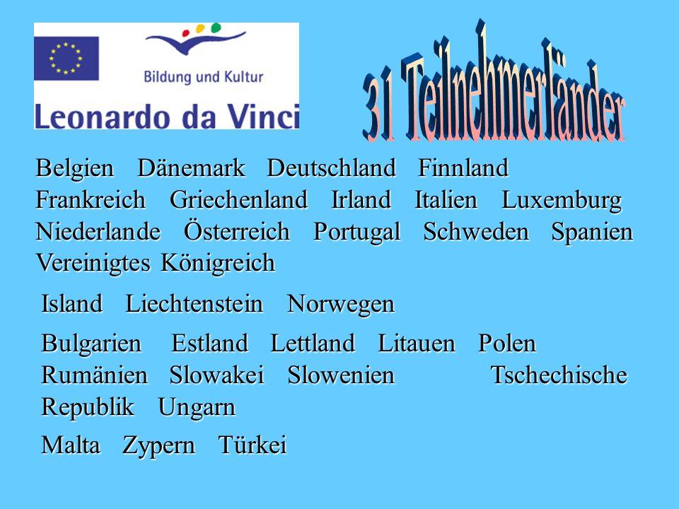Belgien Dänemark Deutschland Finnland Frankreich Griechenland Irland Italien Luxemburg Niederlande Österreich Portugal Schweden Spanien Vereinigtes Königreich Island Liechtenstein Norwegen Bulgarien Estland Lettland Litauen Polen Rumänien Slowakei Slowenien Tschechische Republik Ungarn Malta Zypern Türkei