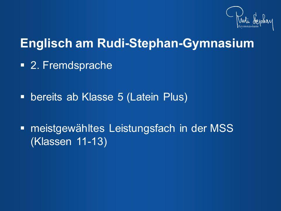 2. Fremdsprache bereits ab Klasse 5 (Latein Plus) meistgewähltes Leistungsfach in der MSS (Klassen 11-13)