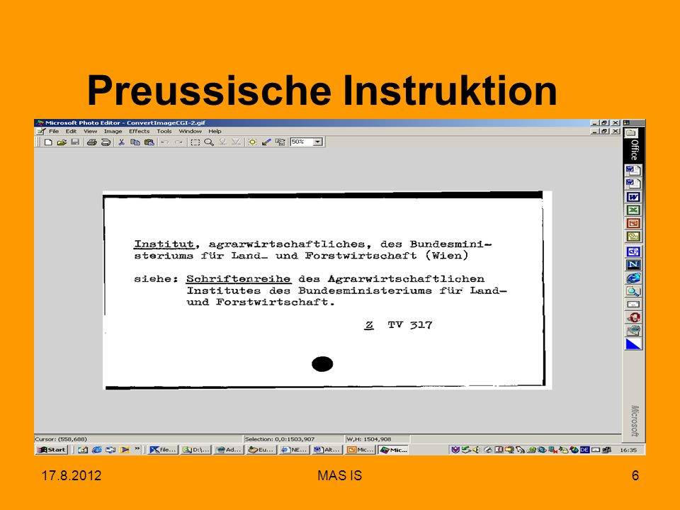 17.8.2012MAS IS6 Preussische Instruktion