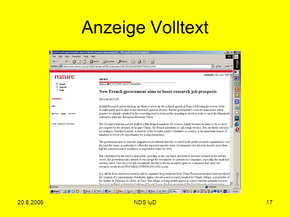 20.8.2005NDS IuD17 Anzeige Volltext