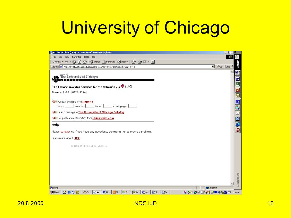 NDS IuD18 University of Chicago
