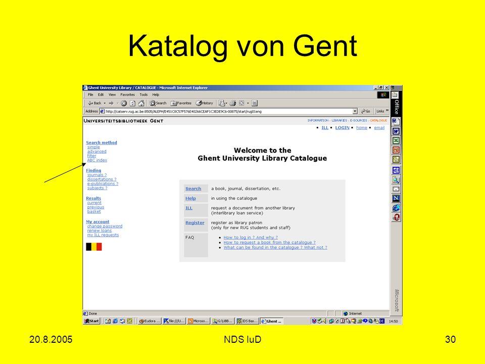 20.8.2005NDS IuD30 Katalog von Gent