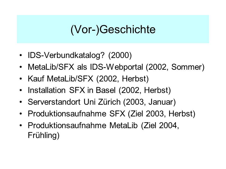 (Vor-)Geschichte IDS-Verbundkatalog.