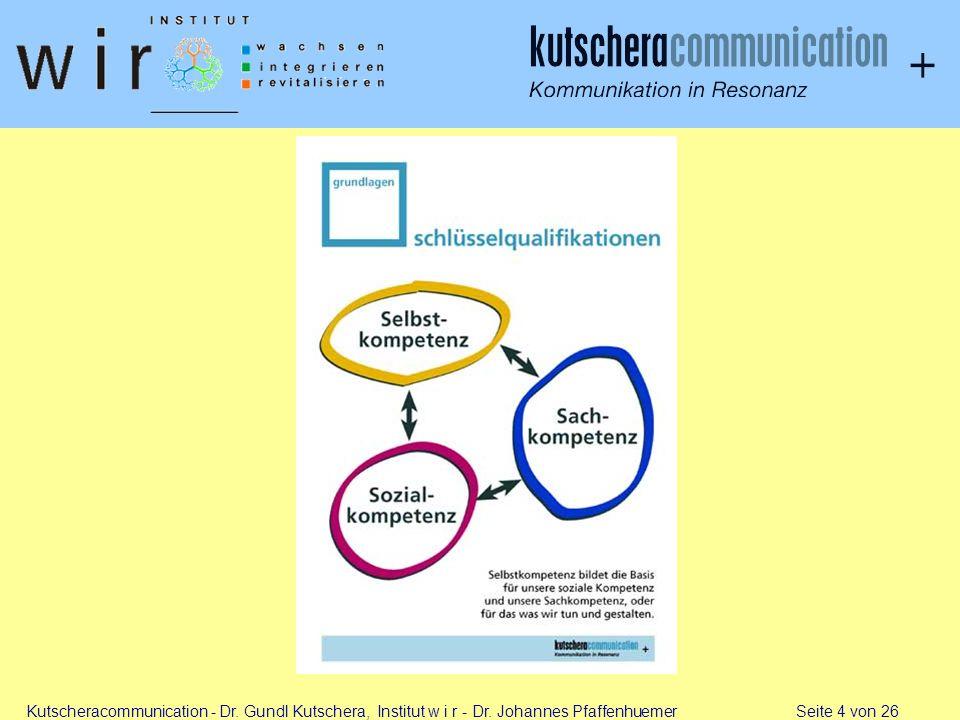 Kutscheracommunication - Dr. Gundl Kutschera, Institut w i r - Dr. Johannes Pfaffenhuemer Seite 4 von 26