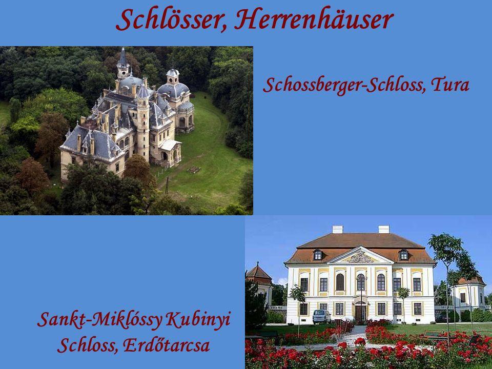 Schlösser, Herrenhäuser Schossberger-Schloss, Tura Sankt-Miklóssy Kubinyi Schloss, Erdőtarcsa