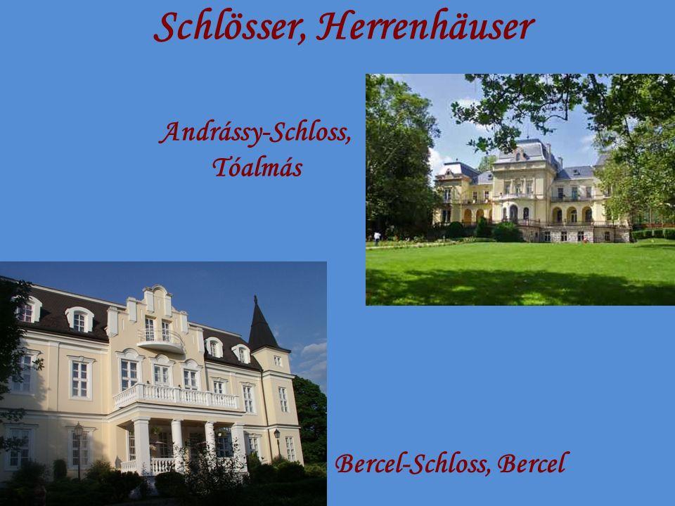 Schlösser, Herrenhäuser Bercel-Schloss, Bercel Andrássy-Schloss, Tóalmás