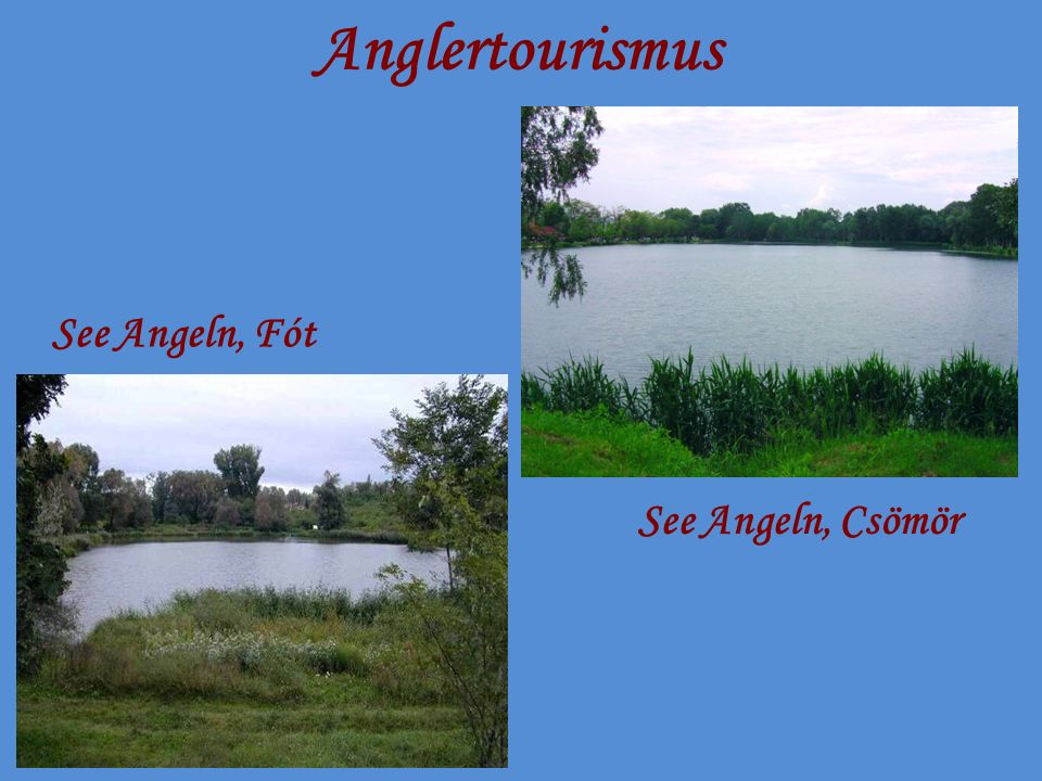 Anglertourismus See Angeln, Fót See Angeln, Csömör