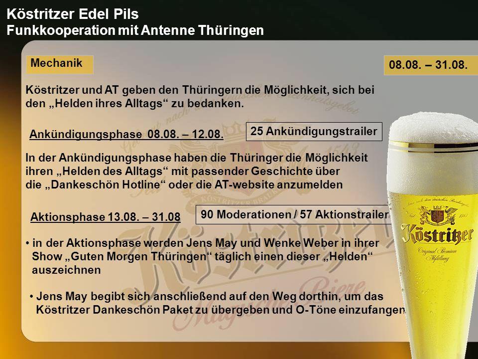 Mechanik Köstritzer und AT geben den Thüringern die Möglichkeit, sich bei den Helden ihres Alltags zu bedanken.