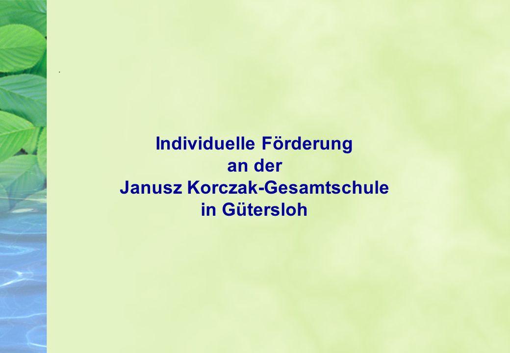 Individuelle Förderung an der Janusz Korczak-Gesamtschule in Gütersloh.