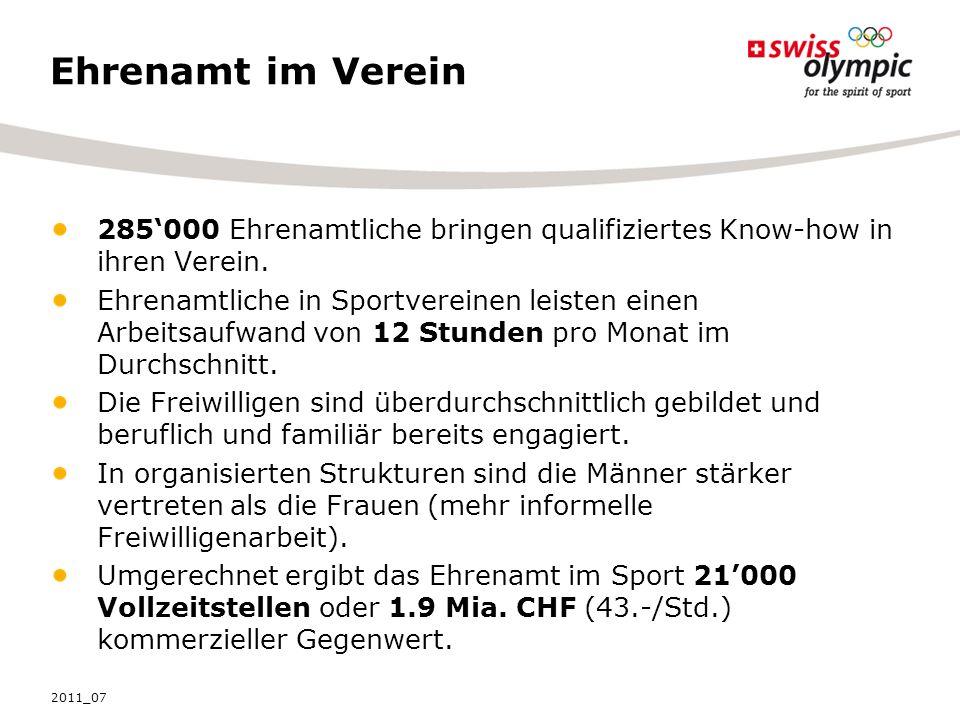 Ehrenamt im Verein 285000 Ehrenamtliche bringen qualifiziertes Know-how in ihren Verein.