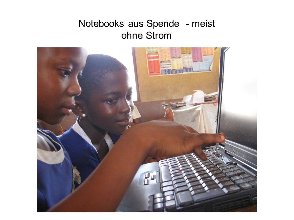 Notebooks aus Spende - meist ohne Strom