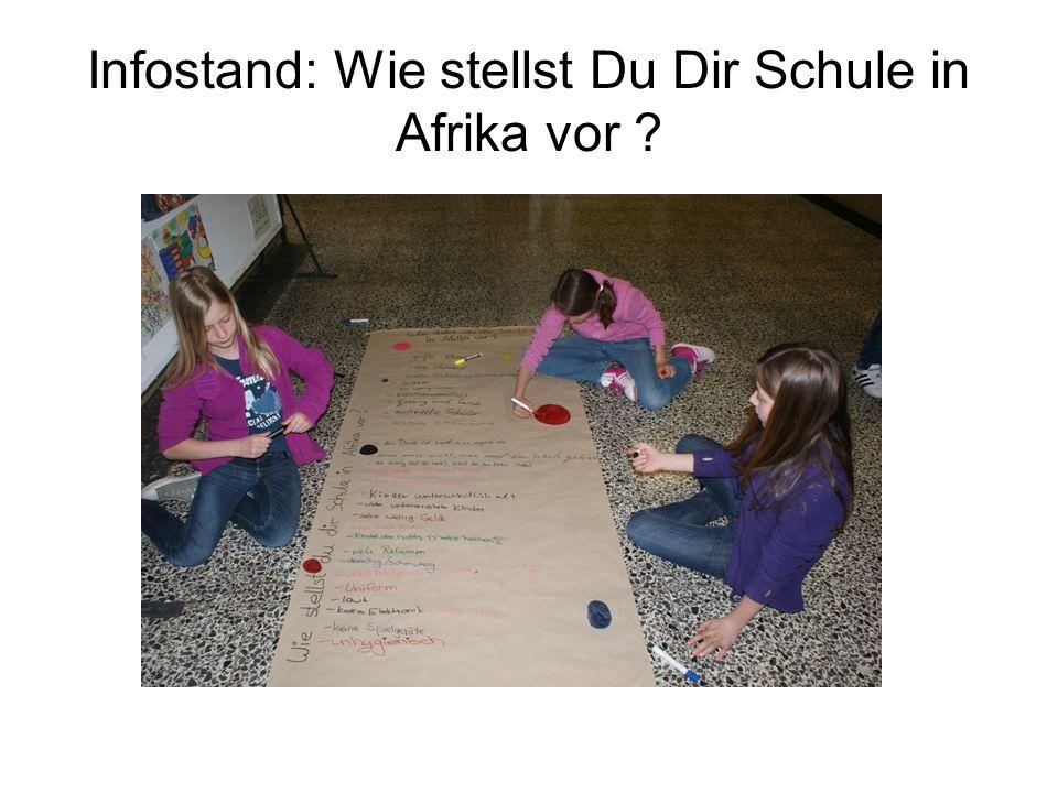 Infostand: Wie stellst Du Dir Schule in Afrika vor ?