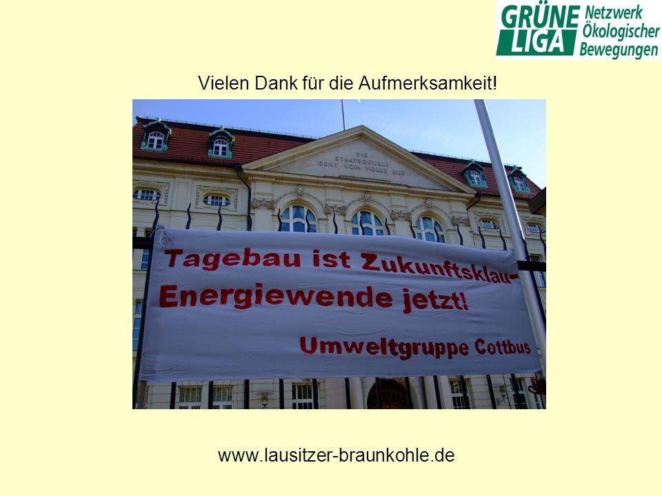 Vielen Dank für die Aufmerksamkeit! www.lausitzer-braunkohle.de