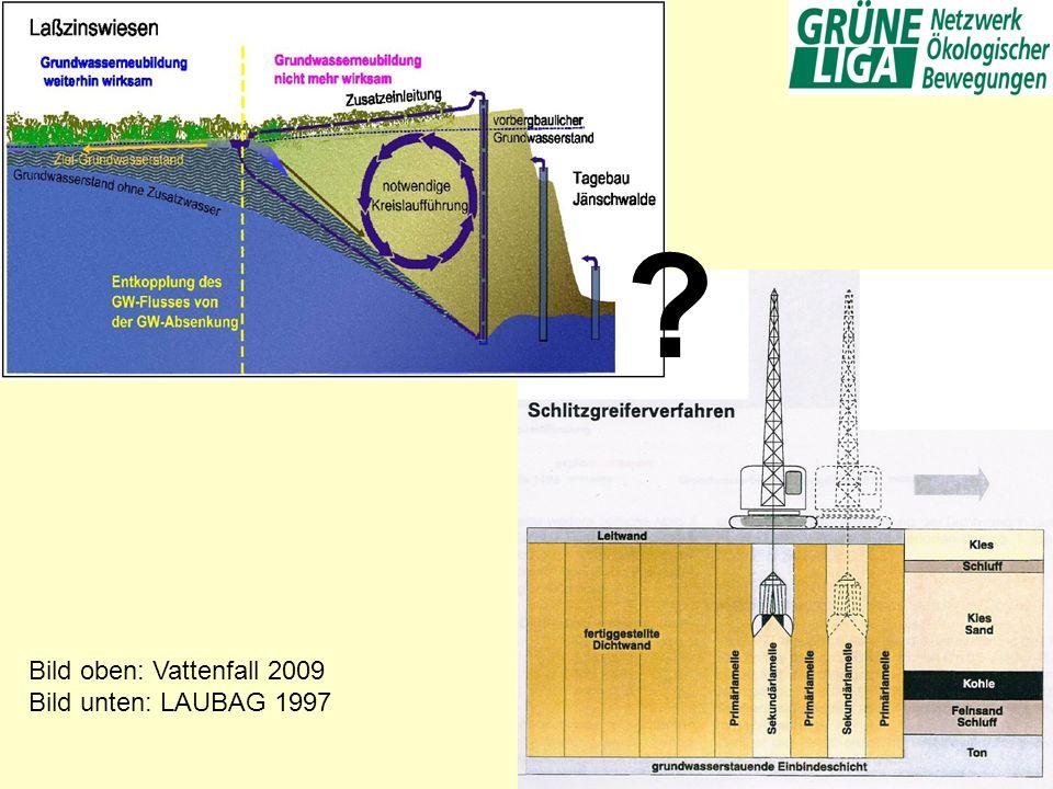 Bild oben: Vattenfall 2009 Bild unten: LAUBAG 1997 ?