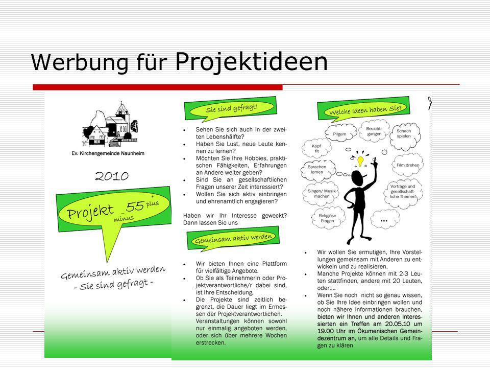 Werbung für Projektideen