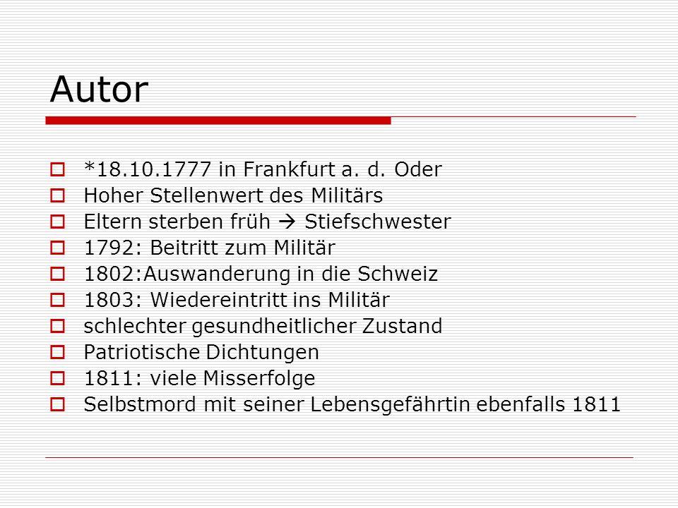 Autor *18.10.1777 in Frankfurt a.d.