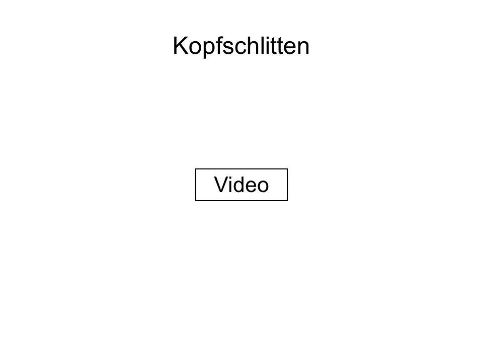 Kopfschlitten Video