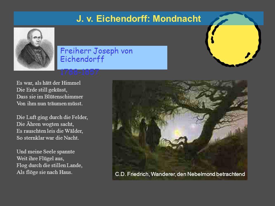 Caspar David Friedrich: Wanderer, den Nebelmond betrachtend
