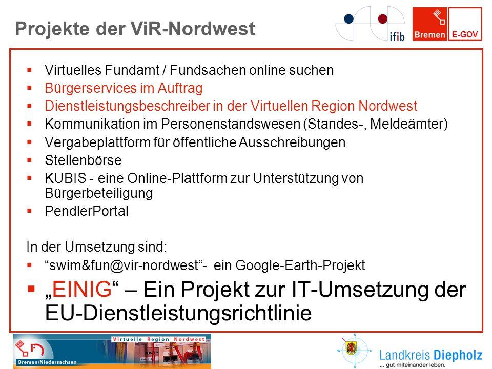 E-GOV Virtuelles Fundamt / Fundsachen online suchen Bürgerservices im Auftrag Dienstleistungsbeschreiber in der Virtuellen Region Nordwest Kommunikati