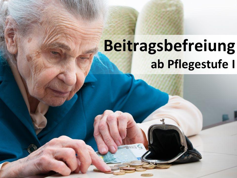 Beitragsbefreiung ab Pflegestufe I
