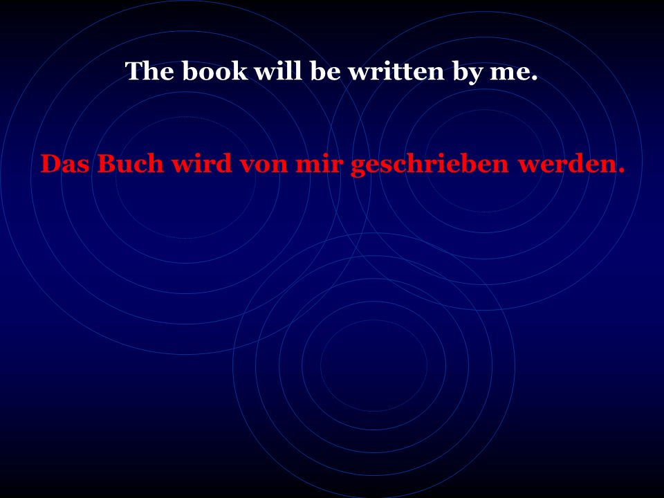 Der Brief wird von dem Mann gelesen werden. The letter will be read by the man.