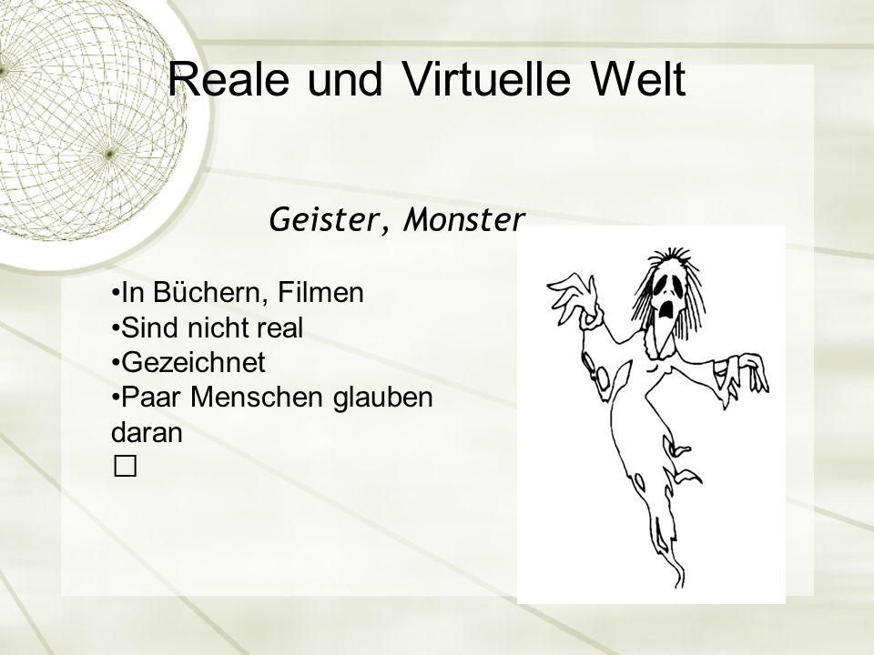 Reale und Virtuelle Welt In Büchern, Filmen Sind nicht real Gezeichnet Paar Menschen glauben daran Geister, Monster