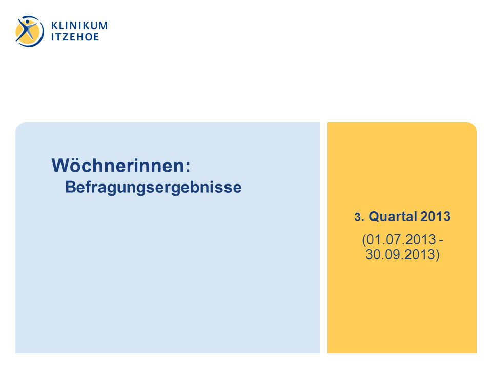 Wöchnerinnen: Befragungsergebnisse 3. Quartal 2013 (01.07.2013 - 30.09.2013)